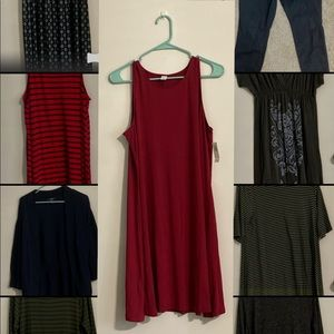Red old navy dress size large